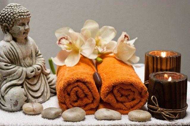 ručníky a svíčky