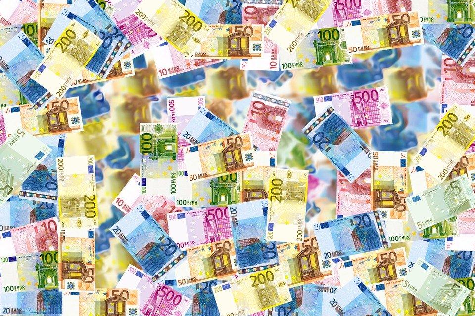 rozložená eura